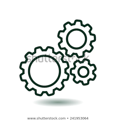 Green Mechanical Gears Icon stock photo © kbuntu