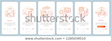 Stock photo: Orthopedic Elements Vector Onboarding