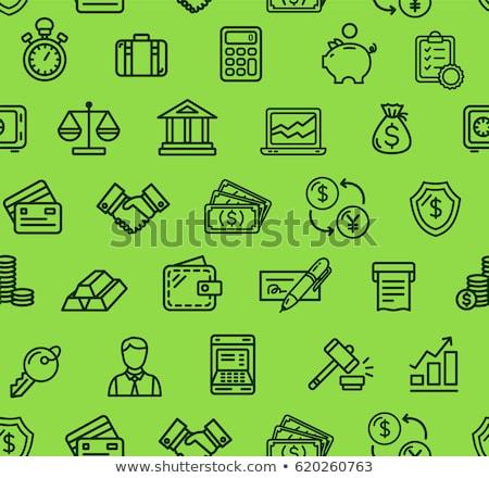 финансовых учета вектора линейный пиктограммы Сток-фото © pikepicture