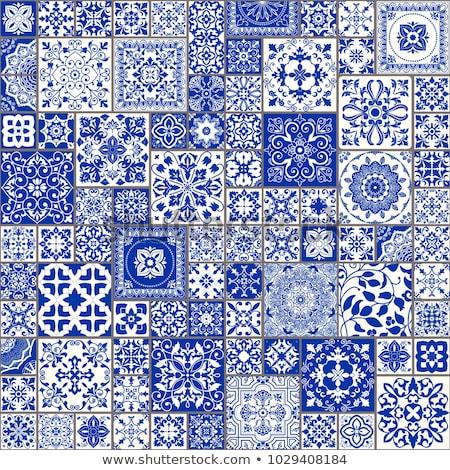 Mexikói vektor végtelen minta repetitív hagyományos cserépedények Stock fotó © RedKoala