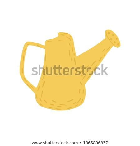 plastic watering can Garden Tool Cartoon Retro Drawing Stock photo © patrimonio