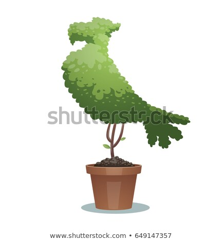 Aigle jardinier jardinage animaux mascotte cartoon Photo stock © Krisdog