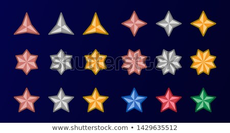 Star ingesteld goud kleur abstract Stockfoto © bspsupanut
