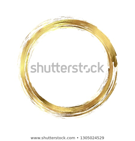 Coloured Watercolor Background. Yellow and gold circle Stock photo © Natalia_1947