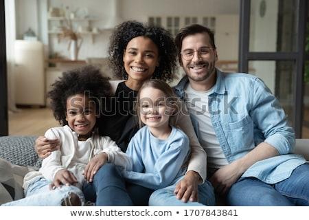 Fotografia szczęśliwy przyjazny rodziny mum tata Zdjęcia stock © vkstudio