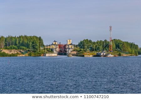 Gateway on the lake Shawan, Russia Stock photo © borisb17