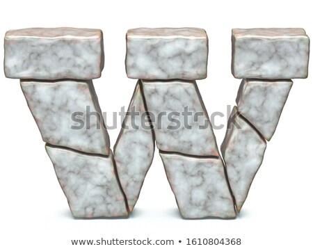 Rock kamieniarstwo chrzcielnica list w 3D 3d Zdjęcia stock © djmilic