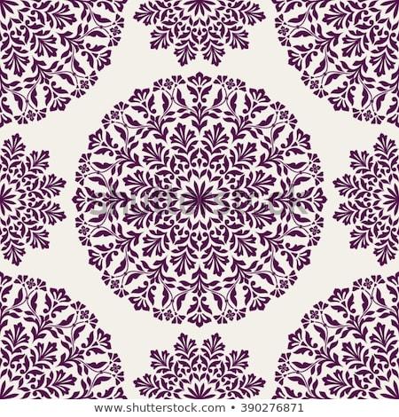 Díszek mandala virágmintás minta vektor terv Stock fotó © anbuch