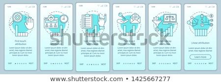 Digitális marketing dolgozik technológiák média márka Stock fotó © RAStudio