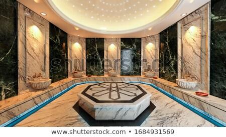 турецкий ванны современных дизайна черный мрамор Сток-фото © sedatseven