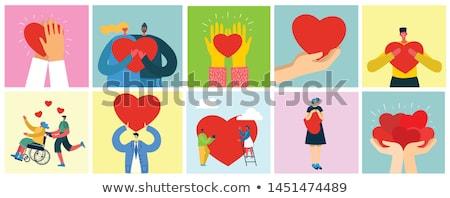 Vrede liefde mensen icon vector schets Stockfoto © pikepicture