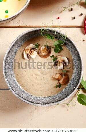 Heißen cremig Suppe Grün Gemüse Stock foto © vkstudio