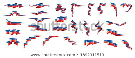 Filipinas bandeira branco coração cor asiático Foto stock © butenkow