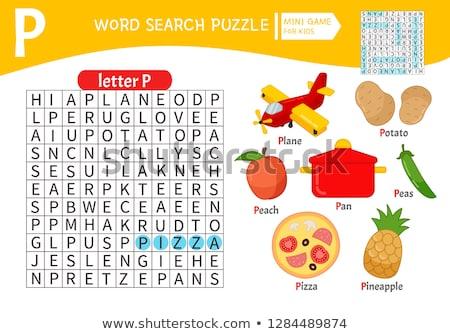 Szavak puzzle gyerekek oktatási játék tanul Stock fotó © natali_brill