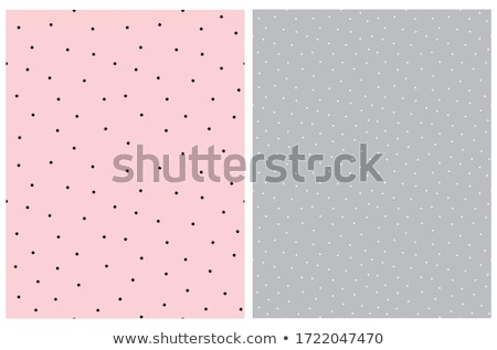 Seamless Irregular Geometric Pattern. Abstract Black and White Halftone Background. Vector Chaotic R Stock photo © samolevsky