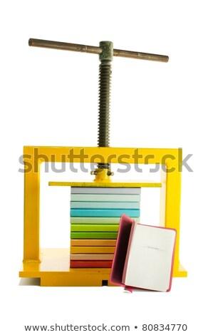 Renkli kitaplar basın yalıtılmış beyaz Stok fotoğraf © AndreyKr