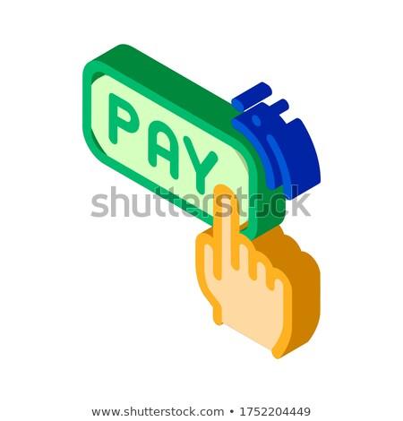 Een klikken touch betaling isometrische icon Stockfoto © pikepicture