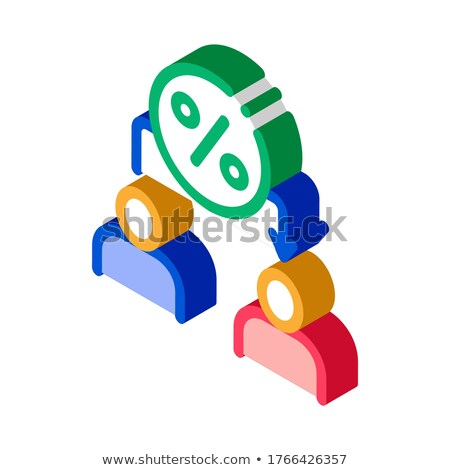 Lend Money Human isometric icon vector illustration Stock photo © pikepicture