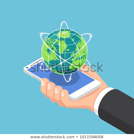 Worldwide Globe isometric icon vector illustration Stock photo © pikepicture