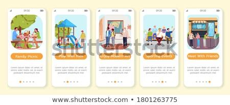 Public places app interface template. Stock photo © RAStudio