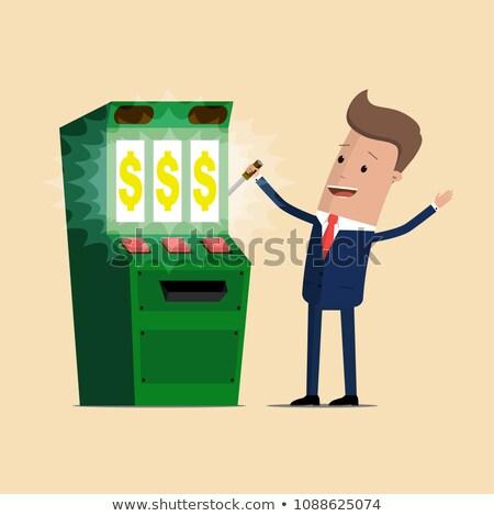 Man Playing Slot Machines , Gambling game concept Stock photo © robuart