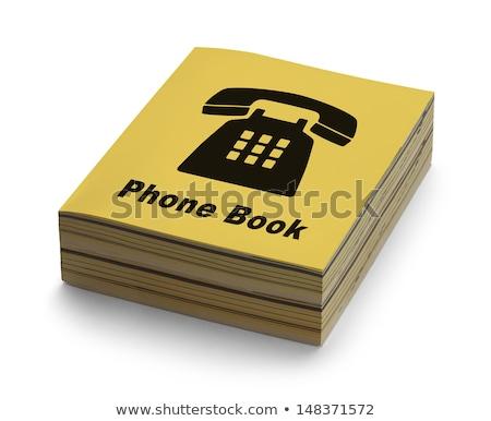 Könyv telefon okostelefon ekönyv okostelefon képzeletbeli Stock fotó © pkdinkar