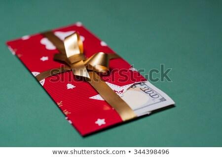 Kinyitott ajándék doboz dollár szimbólum bent arany Stock fotó © Pixelchaos