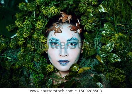 solucan · yaprak · görüntü · çiçek · bahar · bahçe - stok fotoğraf © sweetcrisis