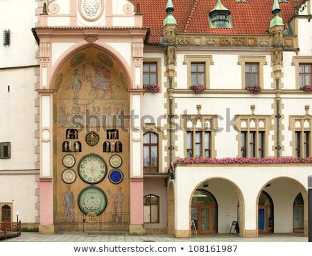 ストックフォト: 町役場 · 天文学的な · クロック · 歴史的 · チェコ共和国 · セントラル