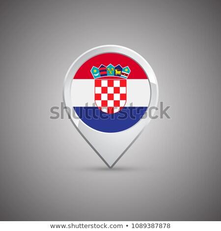 vettore · etichetta · Croazia · colore · timbro · vendita - foto d'archivio © milsiart