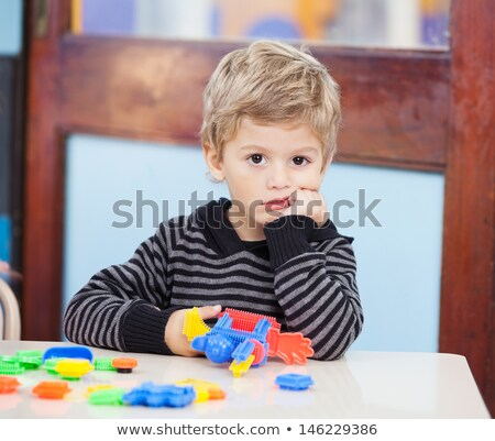 little boy in the classroom looking bored stock photo © photography33