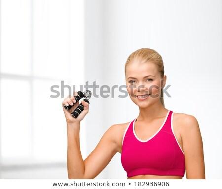 mão · equipamento · branco · esportes · treinamento - foto stock © photography33