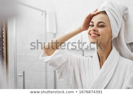 Face of woman reflected in mirror Stock photo © photography33