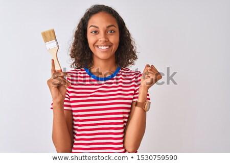 Painter holding brush stock photo © photography33