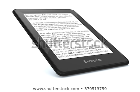 e-reader isolated on white Stock photo © papa1266