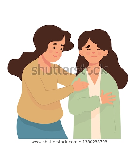 Young woman trying to comfort her friend Stock photo © photography33