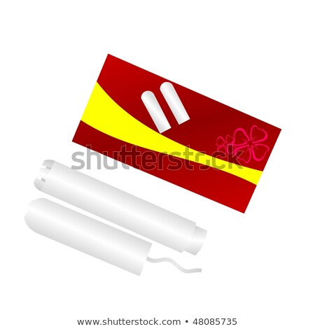 cardboard applicator tampon on white background Stock photo © ozaiachin