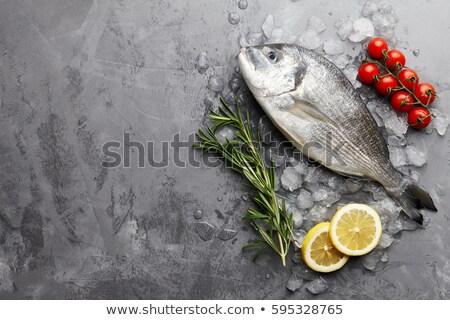 balık · sebze · tava · mutfak · fotoğraf · pişirme - stok fotoğraf © zhekos
