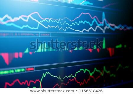Index tábla valuta csere gyakoriság izolált Stock fotó © Mikko