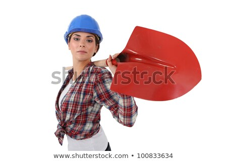 woman with shovel over his shoulder stock photo © photography33