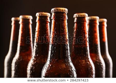 Sörösüveg üveg tele világos sör fehér sör Stock fotó © stevanovicigor