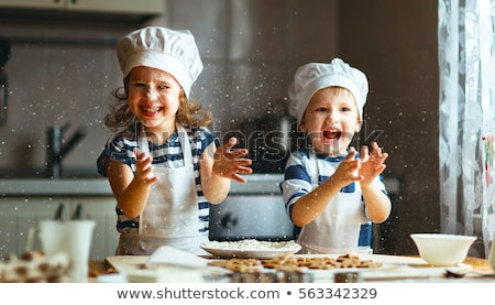 young child making cookies Stock photo © gewoldi
