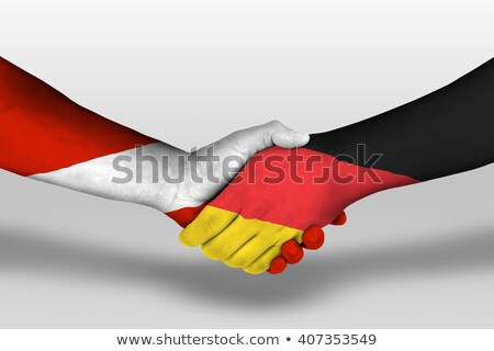 a handshake between austria and germany stock photo © nelosa