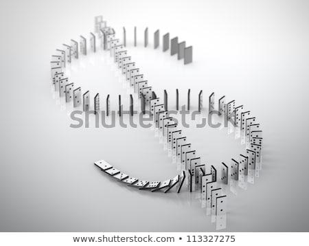 Dominos  dollar symbol Stock photo © stoonn