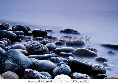 Uzun pozlama kaya plaj kuzey Portekiz bo Stok fotoğraf © ajn