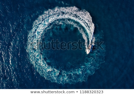 Wake of boat at sea Stock photo © speedfighter