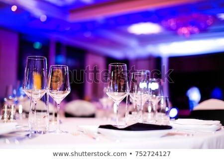 Gala recepcji gotowy tabeli żywności pić Zdjęcia stock © taden