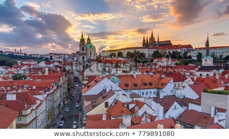 prague - st. nicolas church at little quarter Stock photo © courtyardpix