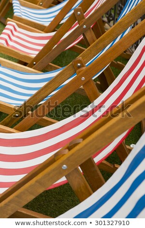 deck chair on the grass without people stock photo © meinzahn