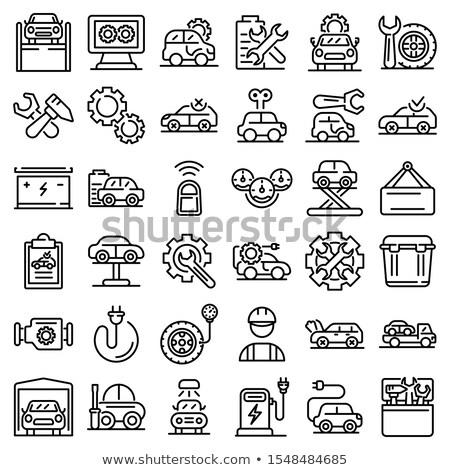 Set of service automobiles black icons Stock photo © Ecelop